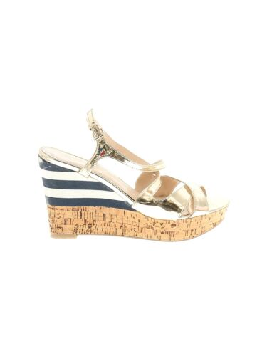 Tommy by Tommy Hilfiger Women Gold Wedges US 8 - image 1