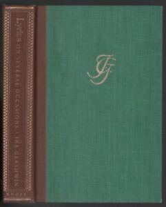 Ira-Gershwin-Lyrics-on-Several-Occasions-FIRST-EDITION-1959