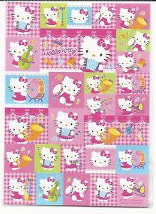 Sanrio Hello Kitty Stickers Plaid