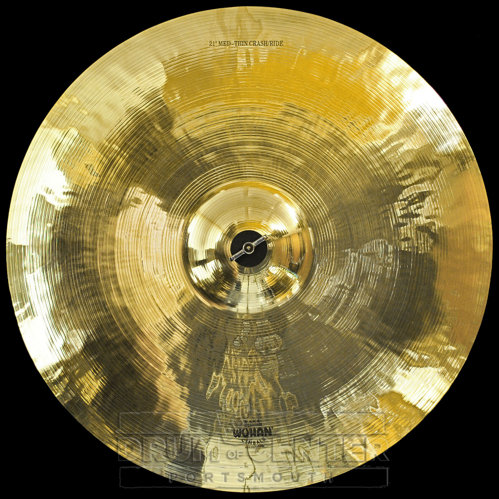 Wuhan Medium Thin Crash Ride Cymbal 21  - Video Demo