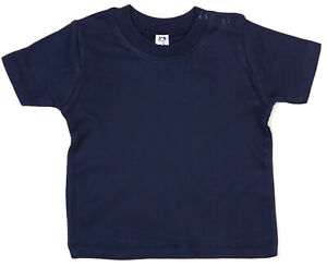 SALE-ITEM-Pack-of-5-Navy-Cotton-Baby-T-shirts-Shoulder-Poppers-Size-12-18-Months