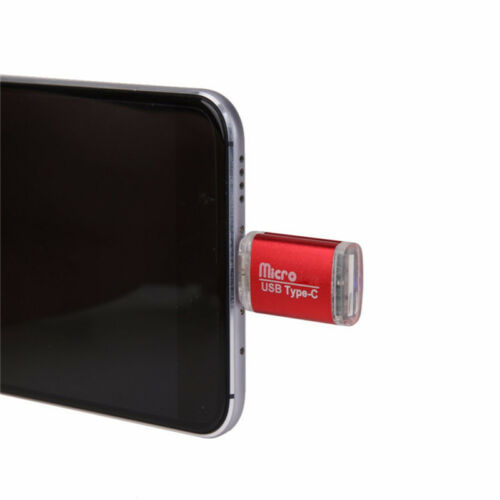 New OTG Type-C to USB 2.0 Alloy Micro SD Card Reader For Android Phone Tablet PC