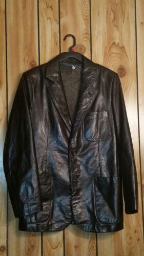 cuir Jacket or femme noir Eu Usa Med 40 Taille en Beged Ladies 7wOCq7S