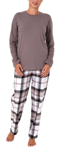 Damen Flanell Pyjama Mix /& Match Hose Flanell Top Single Jersey-281 201 90 242
