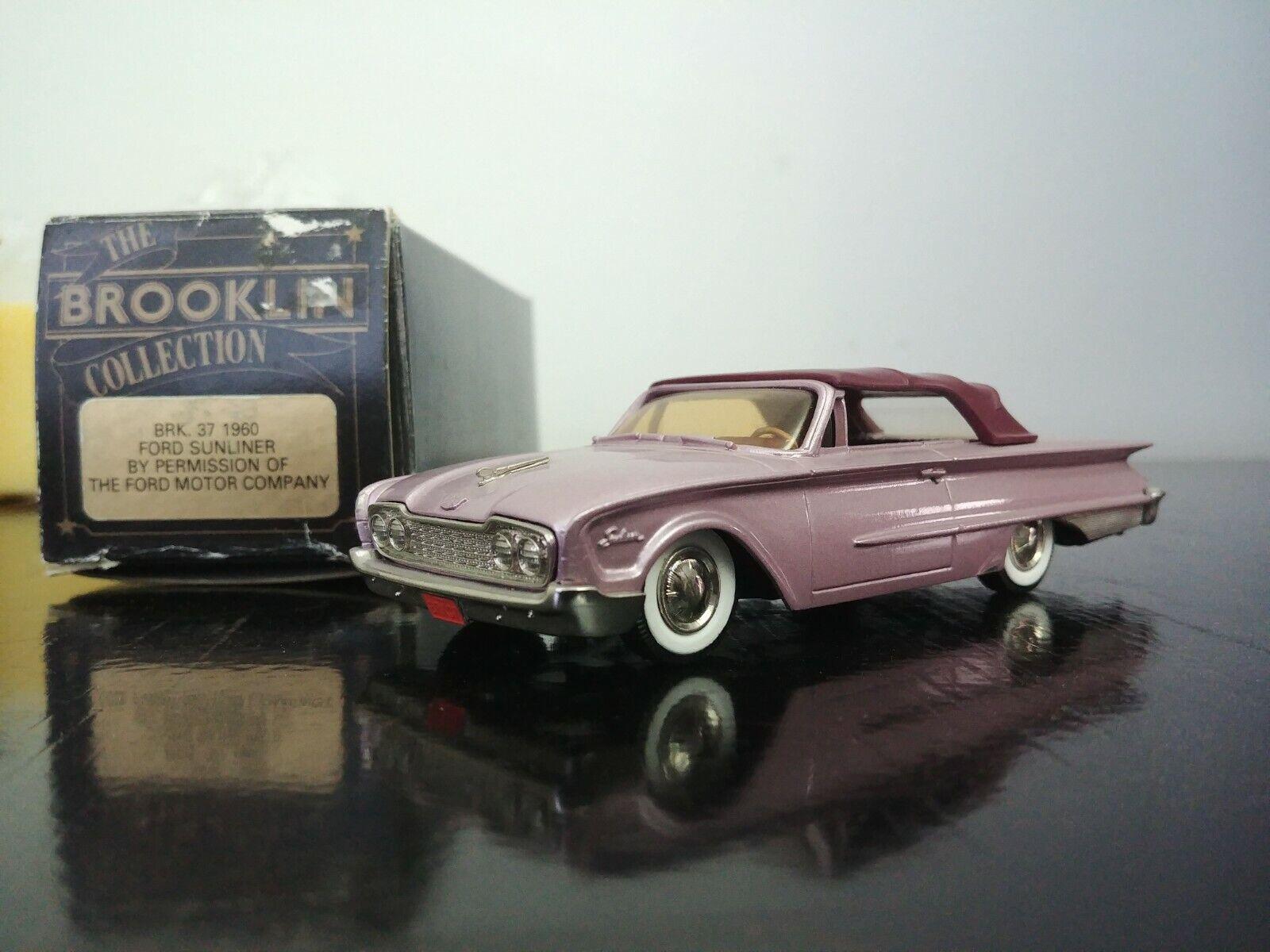 en promociones de estadios 1 43 Brooklin BRK.37 1960 Ford Sunliner Muy Rara     descuento de bajo precio