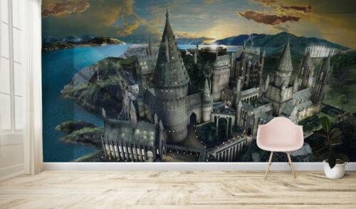 Harry Potter Hogwarts Castillo Mural para Pared Calidad Pasteable Papel Pintado