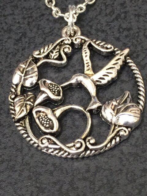 "Pretzel Charm Tibetan Silver with 18/"" Necklace"