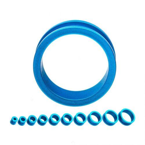 """PAIR-Rubber Blue Coat On Steel Screw On Ear Tunnels 19mm//3//4/"""" Gauge Body Jewelry"""