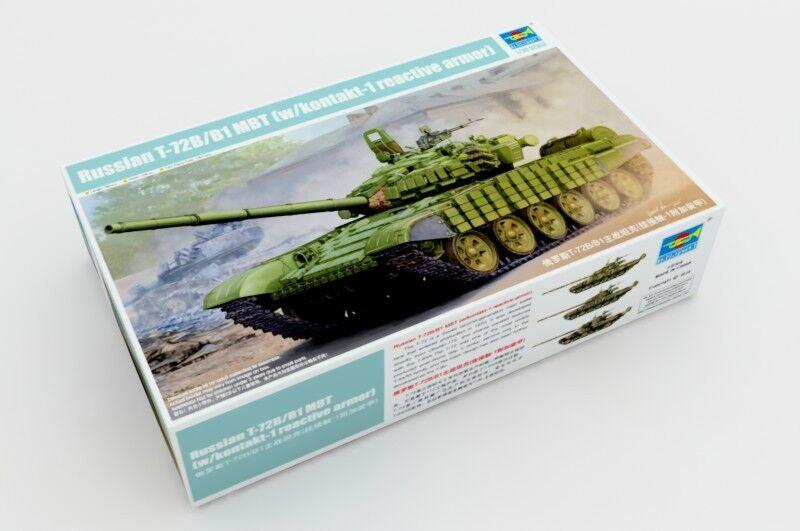 Trumpeter 1 35 05599 Russian T-72B B1 MBT w Kontakt-1 Reactive Armor