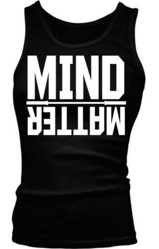 Willpower Overcome Sayings Slogans Boy Beater Tank Top Mind over Matter