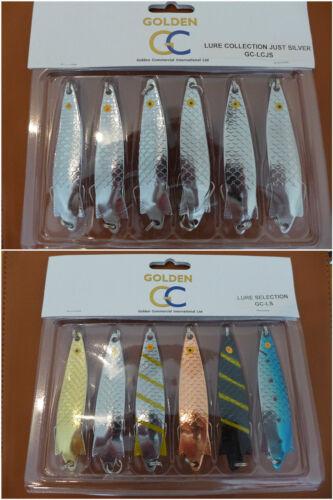ensemble de 6 mixte couleur TOBY TOBIX saumon brochet leurre spinner sélection 6x28g silver