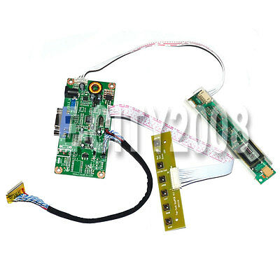 VGA LCD Controller Board Monitor DIY Kit For B156XW01 V.0 CCFL 30Pin US Seller