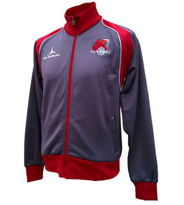 Olorun Welsh Warriors Supporters Jacket Grey/Red Size S-4XL