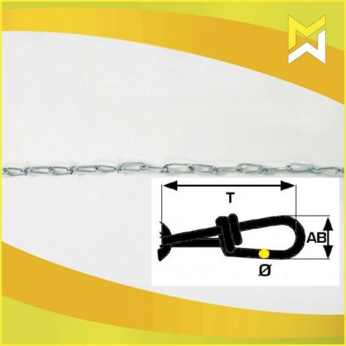 Knotenketten nach DIN 5686 Stahl galvanisch verzinkt Bunde á 30m Knotenkette