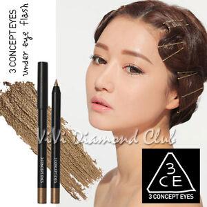 Korean STYLENANDA 3CE 3 CONCEPT EYES Under Eye Flash WP Eyeliner ...