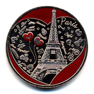 75006 Hôtel de la Monnaie, Tour Eiffel et cœurs 2, aimantée, Monnaie de Paris