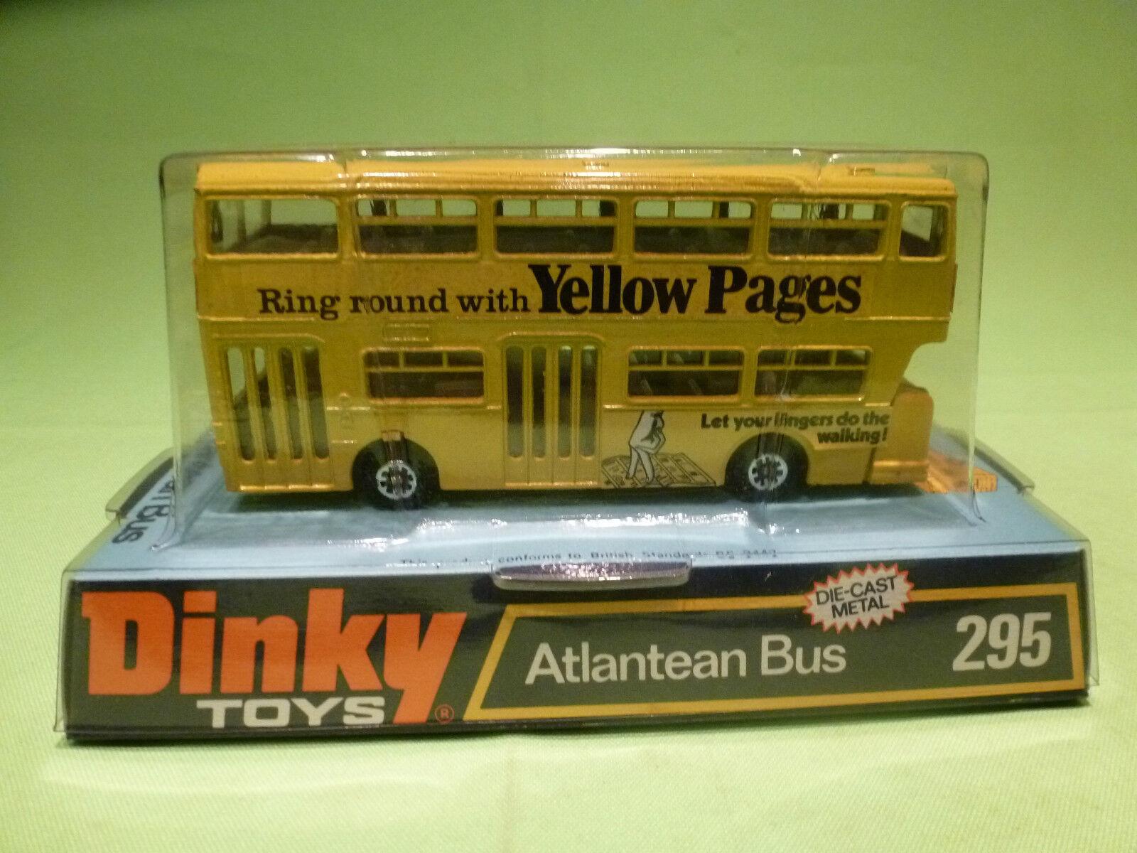 DINKY TOYS 295 ATLANTEAN BUS - amarillo PAGES - RARE SELTEN - GOOD IN BOX