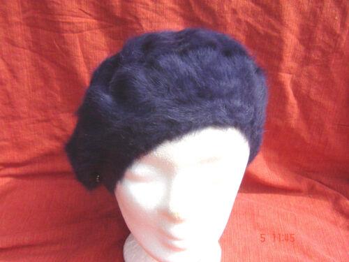 Baskenmütze Damenmütze klassische Baske weiche Angora Wolle purple lila