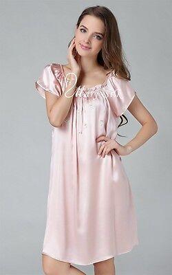 Women Silk Pajamas Loungewear Nightgown Nightskirt Nightdress 6,8,10,12,14,16