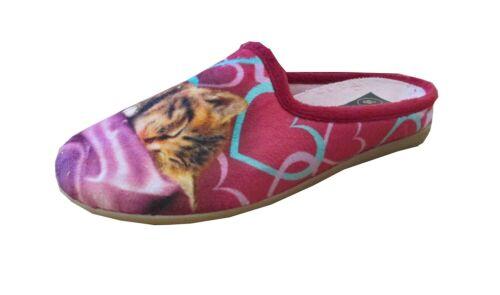 Damen Pantoffeln Hausschuhe mit herausnehmbarer Sohle Hund warm neu Gr.36-41