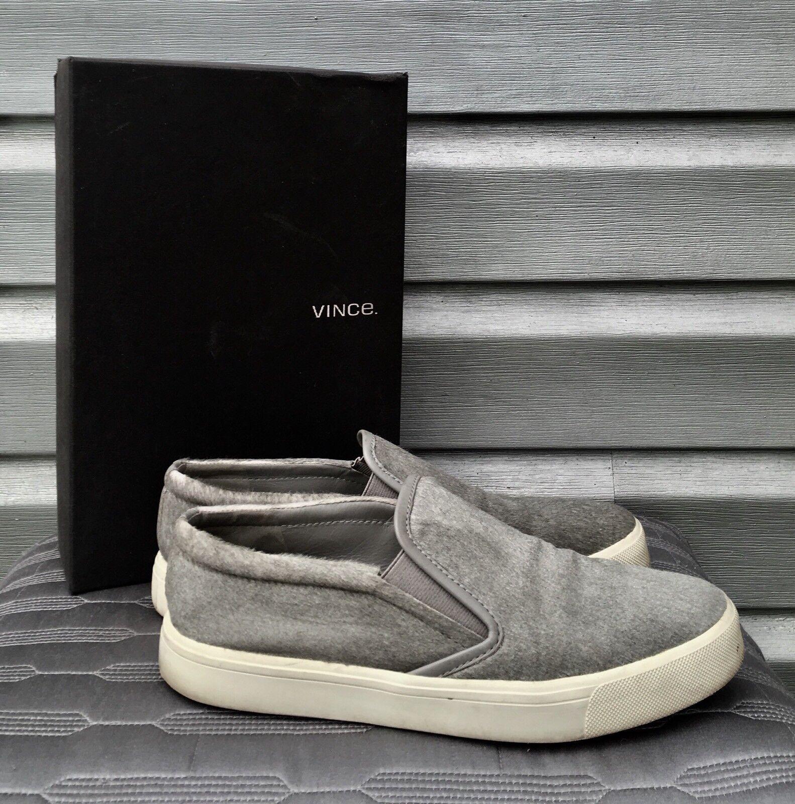 VINCE Banler Slip On Calf Pony Hair Steel Gray Sneakers 250