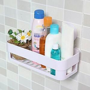 Plastic Suction Bathroom Kitchen Shelf Storage Holder