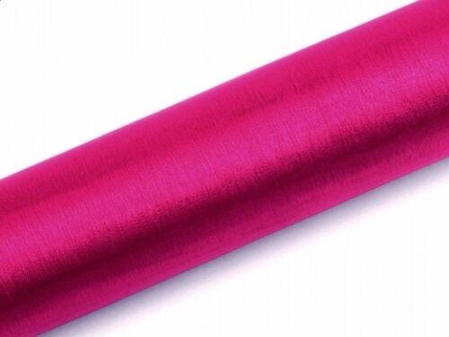 Organza papel libre elección de color 9 M X 36 cm de tela boda bautizo mesa Decoración de alfil