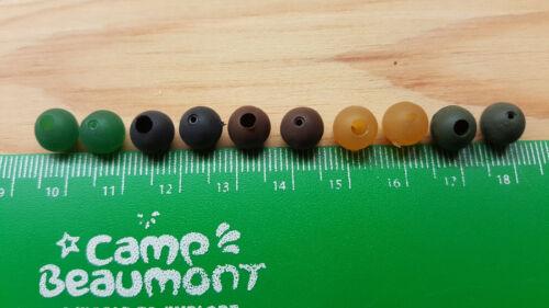 Free Gift 6mm Soft Rubber Shock Impact Beads,Camo Green.Carp,Cat Rigs