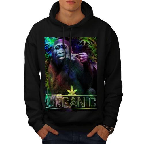 Wellcoda Organic Cannabis Rasta Mens Hoodie Monkey Casual Hooded Sweatshirt