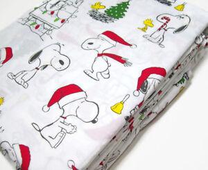 Pottery-Barn-Kids-Peanuts-Snoopy-Wood-Stock-Organic-Cotton-Twin-Sheet-Set-New