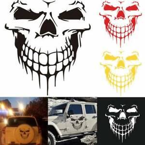 Reflexivo-craneo-Capo-Del-Coche-Auto-Calcomania-Vinilo-Sticker-camion-Porton-Trasero-Ventana-Blackx