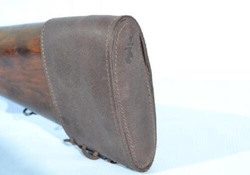 Slip On Recoil Pad Brown Genuine Real Leather Shotgun Gun Rifle Buttstock New
