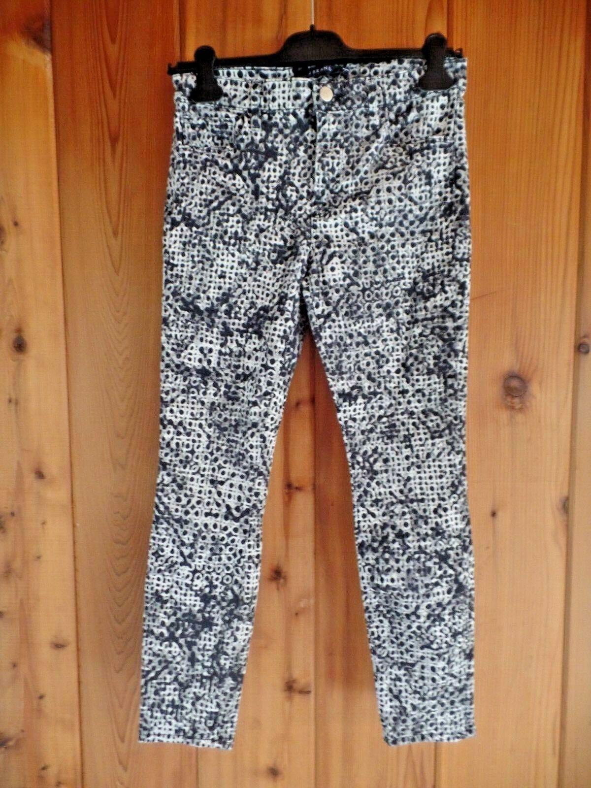 New J Brand Elysium Capri Abstract Print Skinny Jeans Größe 27  218
