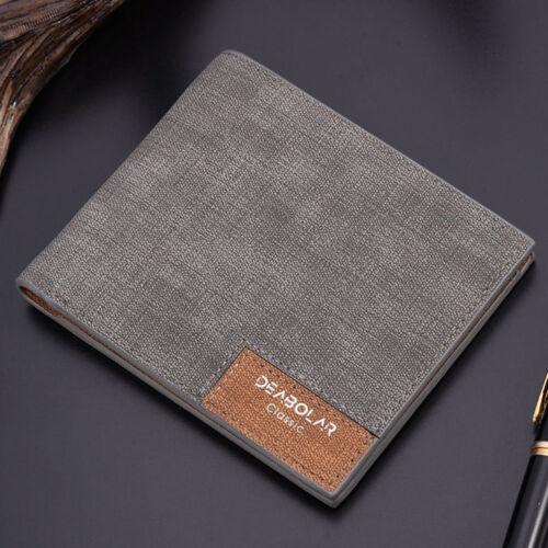 Men/'s PU Leather Thin Wallet Money ID Credit Card Slim Holder Billfold Purse New
