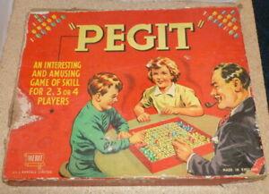 Pegit-Vintage-Game-by-Merit-J-L-Randall-1950-039-s-Rare