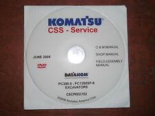 KOMATSU PC300-5 THRU PC1250SP-8 EXCAVATORS SERVICE SHOP REPAIR MANUAL CD