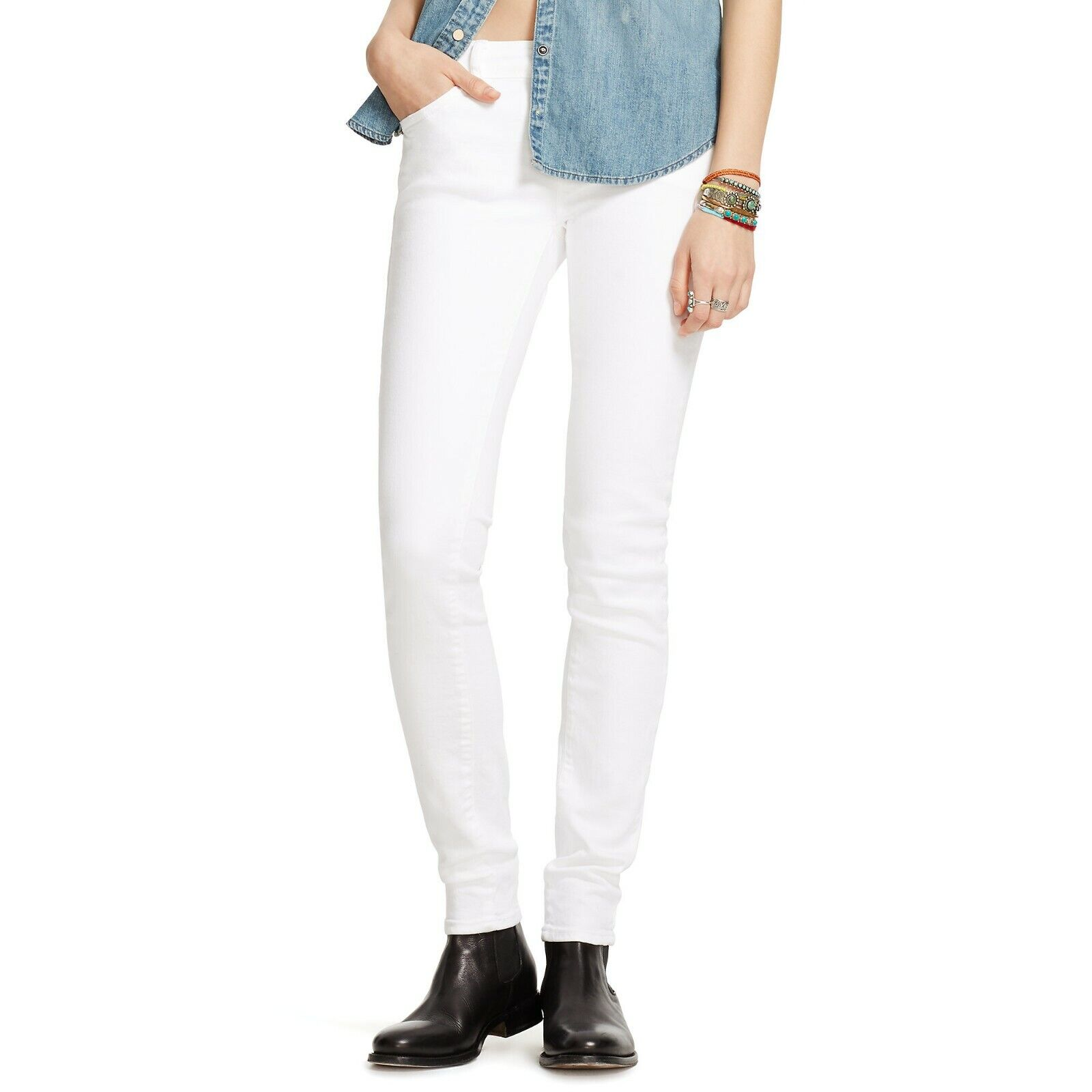 Denim & Supply Ralph Lauren Women's White Bayview Skinny Jean Size 30 x 30