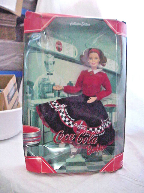 "COCA COLA SIDA FOUNTAIN   ""BARBIE DOLL"" COLLECTOR EDITION MATTEL 1999 NIP"