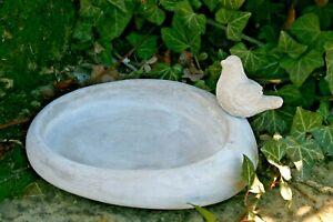 Détails sur Petit Abreuvoir Piscine pour Oiseaux Décoration de Jardin  Céramique Gris Béton