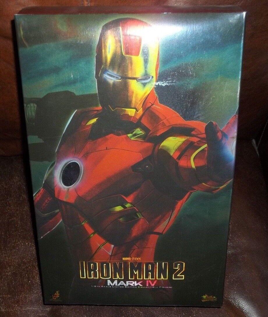Hot toys 12  1 6 scale iron man 2 mark iv armor figure movie masterpiece 2010