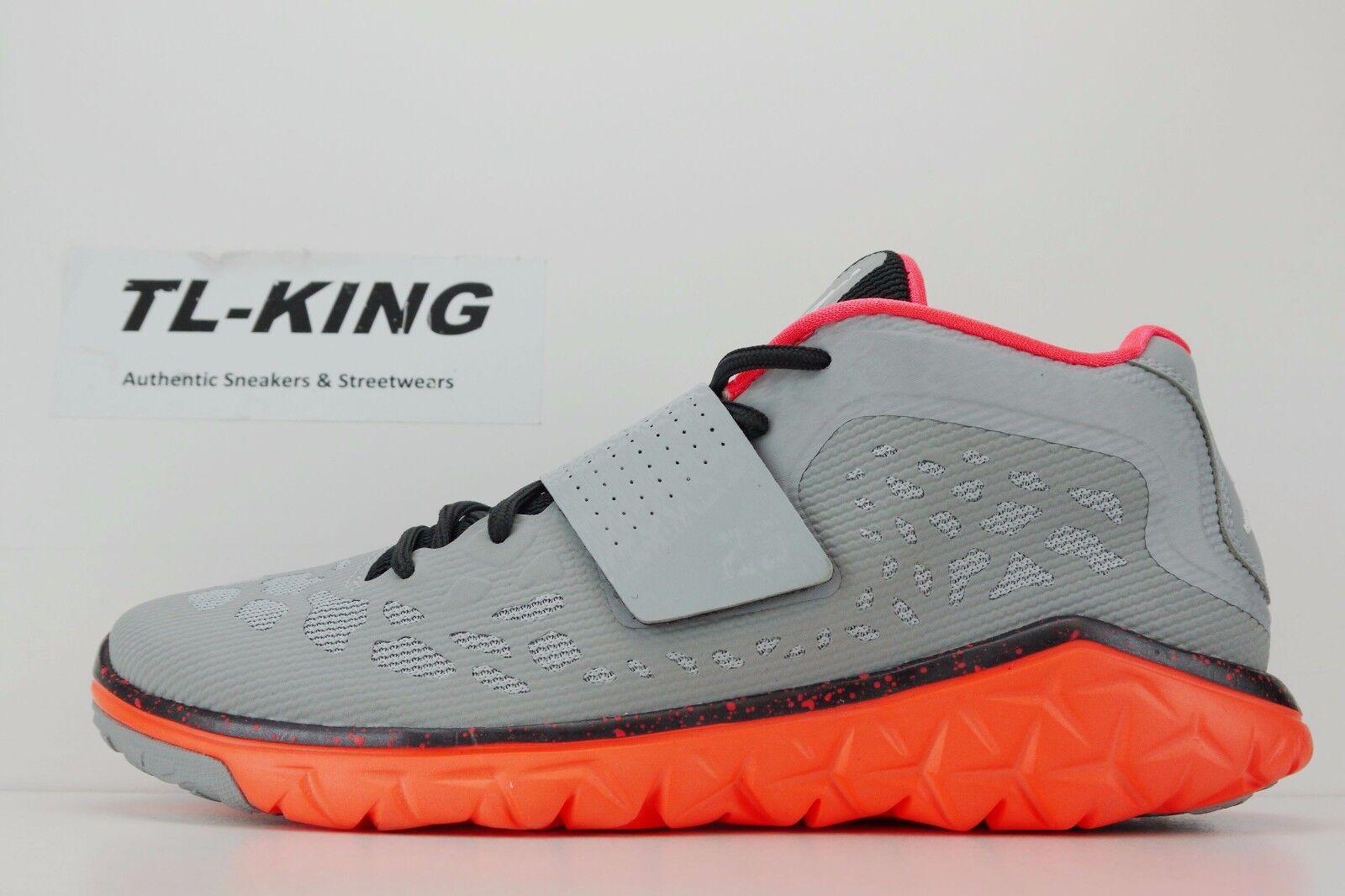 Nike Air Jordan Flight Flex Trainer 2 Wolf Grey Hyper Orange 768911 005 EW Comfortable and good-looking
