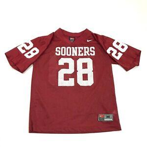 VINTAGE Nike Oklahoma Sooners Football Jersey Youth Size Medium M Red OU V-Neck