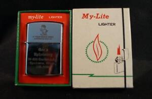 Vintage-Mylite-Mechero-Tabaco-Geo-039-s-Tapiceria-Publicidad-Menta-con-Caja-NOS