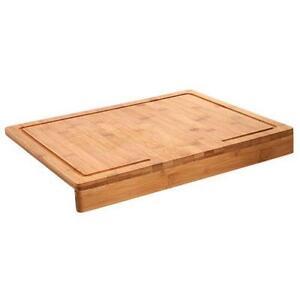 planche d couper rebord evier plan de travail bambou rigole jus 45 x 35 cm ebay. Black Bedroom Furniture Sets. Home Design Ideas