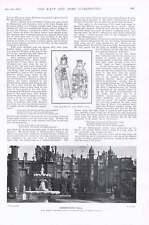 1901 Knebworth Hall King Richard Iii Queen Anne Admiral Sir Hotham And Staff