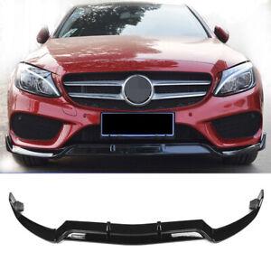 Front-Bumper-Lip-Body-Kit-Spoiler-for-Benz-W205-C-class-Sport-Version-2015-2018
