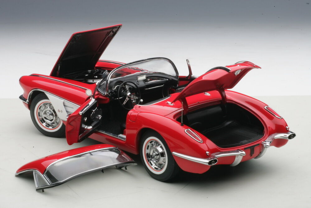 Carart Chevrolet Corvette 1958 Rot Im 1 18 Maßstab Neue Auflage  Im Lager