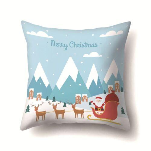 18/'/'Frohe Weihnachten Kissenbezug Bett Sofa Taille Kissenbezug Auto Home Decor