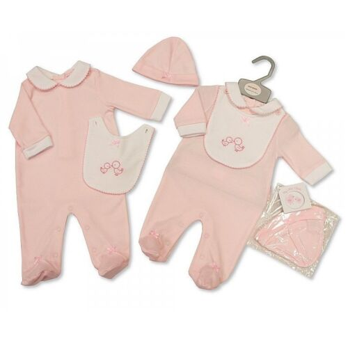 Baby Girl Clothes Spanish Romany style outfit sleepsuit Hat  Pink NB 0-3 months