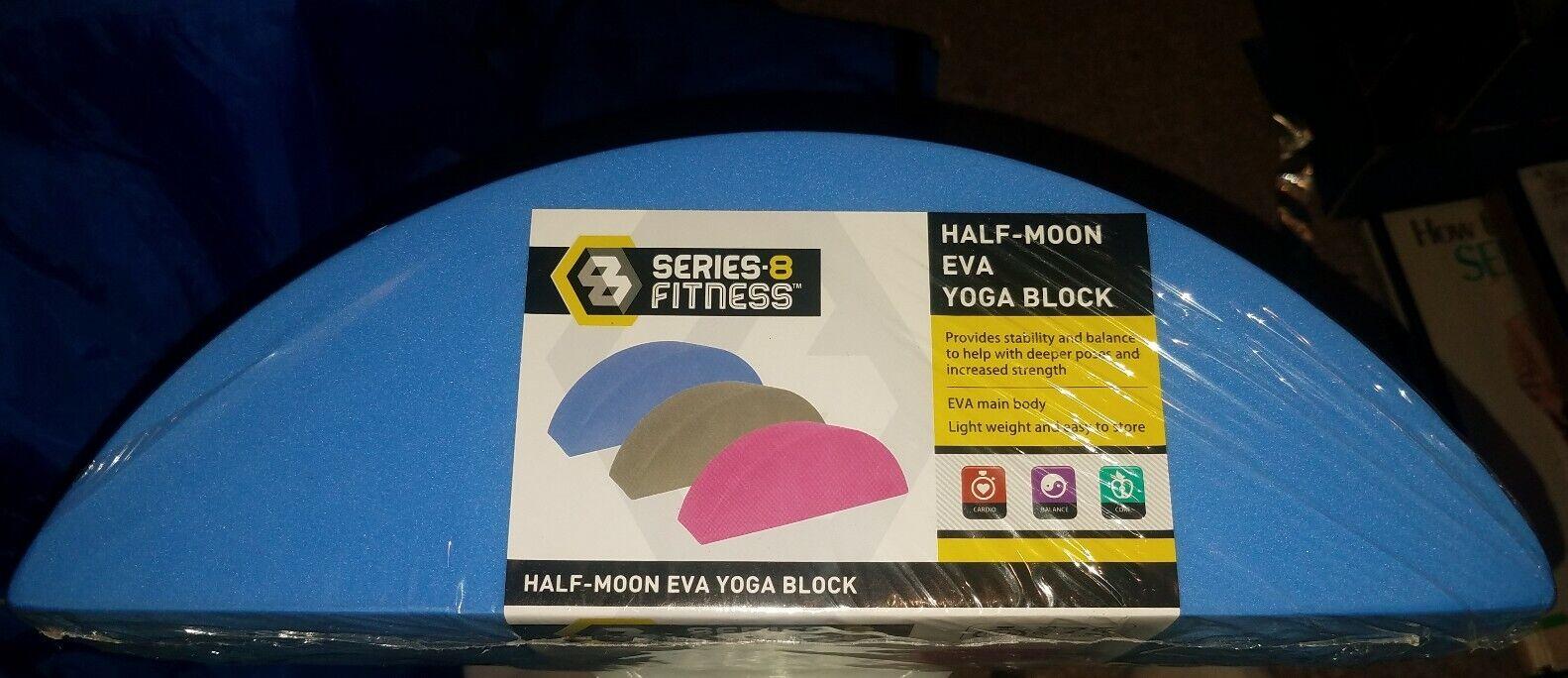 Series – 8 Fitness Blue Half-Moon 'Eva' Yoga Block  [New]